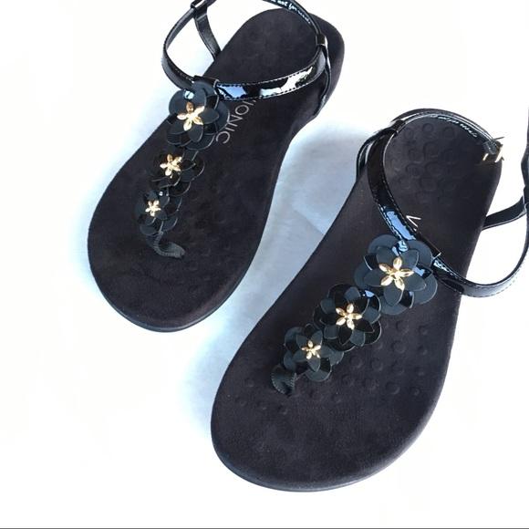 c074ed39d51e Vionic Rest Paulie T- Strap Orthaheel Sandals Sz 8.  M 5bc409b39fe486e197903314